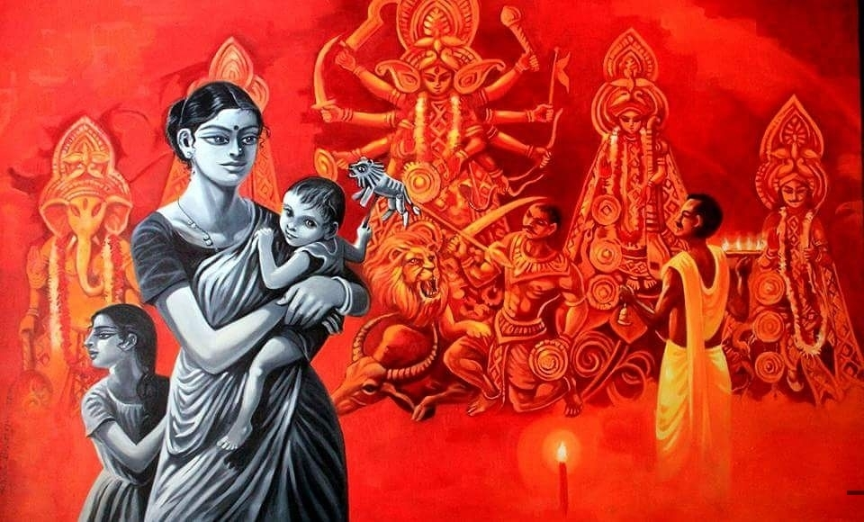 Neglected Durga.