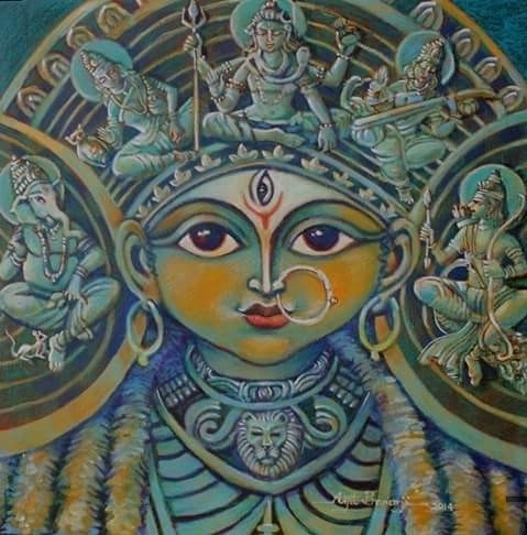Durga and her family
