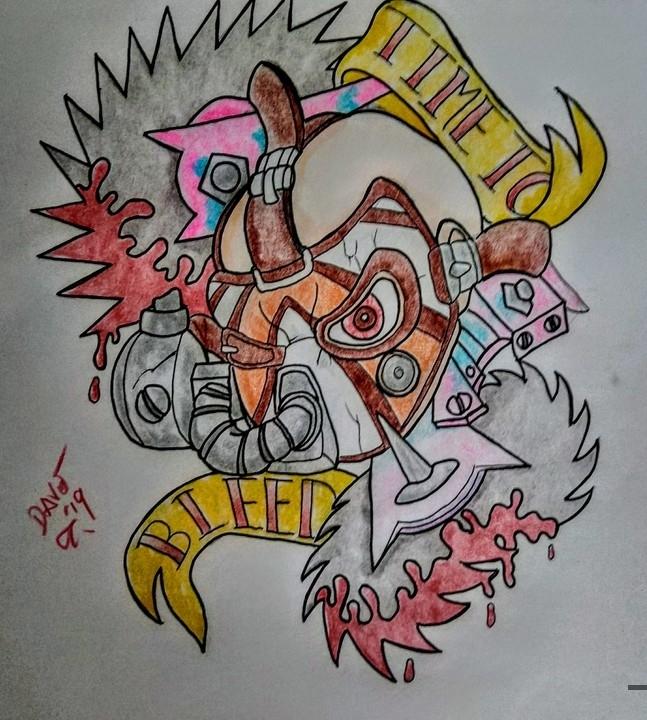 Krieg Tattoo Design