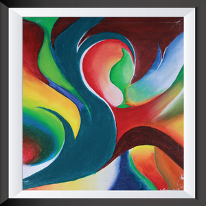 Abstract paintings acrylic on canvas